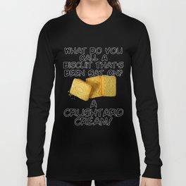 Crushtard Cream Pun Long Sleeve T-shirt