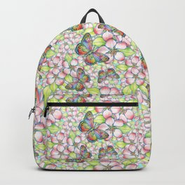 Rainbow Butterfly Blossoms Backpack