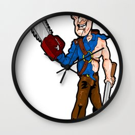 BOOMSTICK! Gimme Some Sugar Baby! Ash (Bruce Campbell) from Evil Dead and Army of Darkness Wall Clock