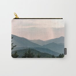 Smoky Mountain Pastel Sunset Carry-All Pouch