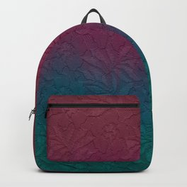 Gable green navy blue burgundy lace gradient Backpack