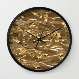 Golden Crinkle Wall Clock