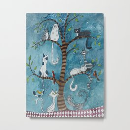 Cat family tree Metal Print