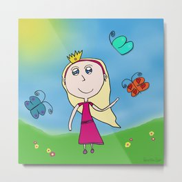 Once Upon A Butterfly Metal Print
