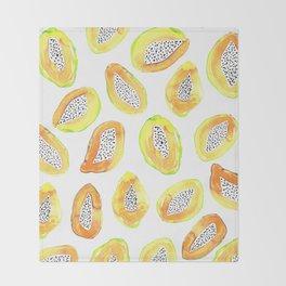Papaya Throw Blanket