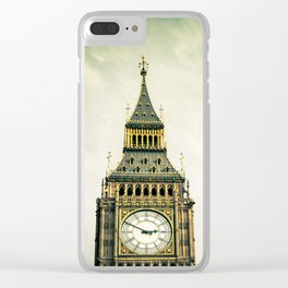 Flight Over London Clear iPhone Case