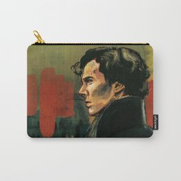 BBC Sherlock Holmes - Benedict Cumberbatch - Painting Print Poster Carry-All Pouch