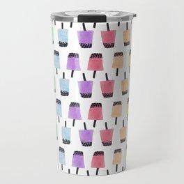 Rainbow Watercolor Bubble Tea Travel Mug