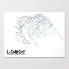 SugarLoaf, ME - Minimalist Trail Art Canvas Print