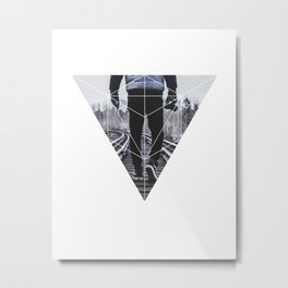 Photographic Path - Geometric Photography Metal Print