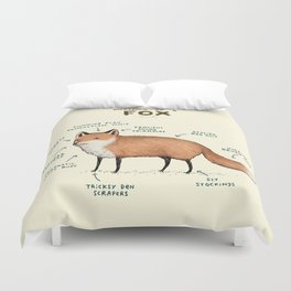 Anatomy of a Fox Duvet Cover