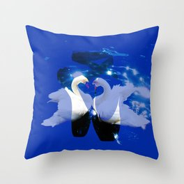 Swan shoes Throw Pillow