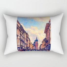 Cracow Florianska street Rectangular Pillow