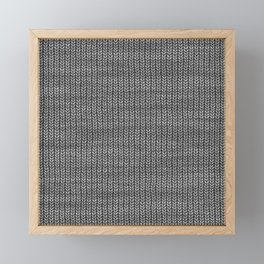 Antiallergenic Hand Knitted Grey Wool Pattern - Mix & Match with Simplicty of life Framed Mini Art Print
