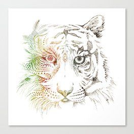Sumatran Tiger VS Palm Oil Canvas Print