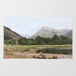 Here is realization - Glen Etive, Scotland Rug