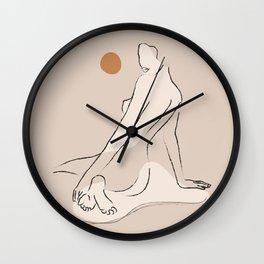 Nude 2 Wall Clock