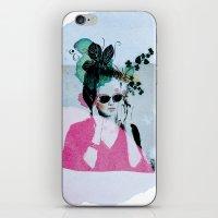 sunglasses iPhone & iPod Skins featuring Sunglasses by Lorene R illustration