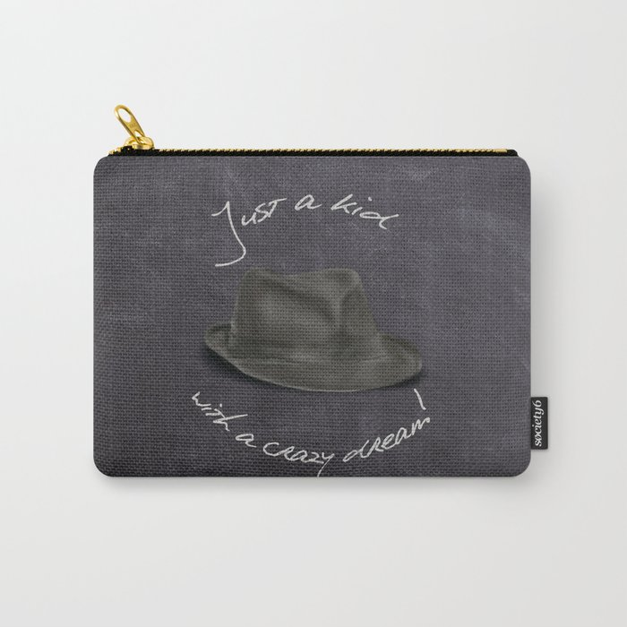 Hat For Leonard, Chalkboard Dreams Carry-All Pouch