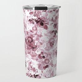 fleuri en rose Travel Mug