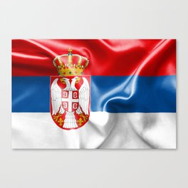 Serbia Flag Canvas Print