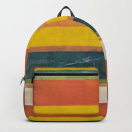 Stripe Painting #6 (The Beach) Backpack