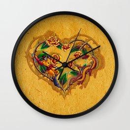 Rodimus and Roses Wall Clock