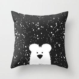 Beary Snowy Throw Pillow
