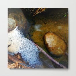 Bubbles and Rocks in the Grottos Metal Print
