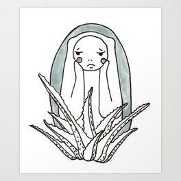 Sad Cactus Art Print