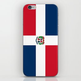 Flag of the dominican republic iPhone Skin