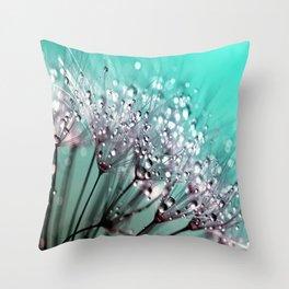Dandelion Blue Diamonds Throw Pillow