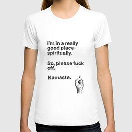 unny yoga print, original yoga art, unique yoga gift, black and white, modern, yoga wine, yoga drawi T-shirt