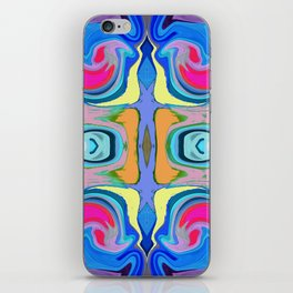96 - Colour abstract pattern iPhone Skin