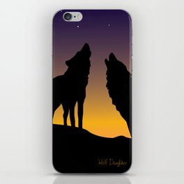 Howl Together iPhone Skin