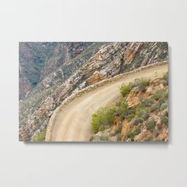 Tight bend in the Swartberg Pass in South Africa - Landscape Metal Print