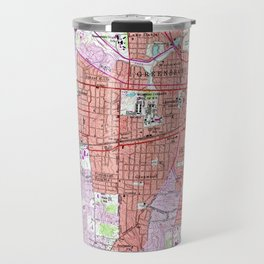 Vintage Map of Greensboro North Carolina (1951) Travel Mug