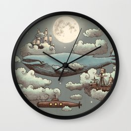 Ocean Meets Sky Wall Clock