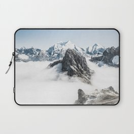 Mountain Tops Above Clouds And Snow Laptop Sleeve