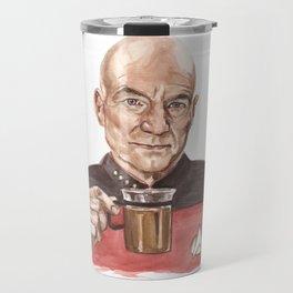 Captain Picard - Tea Earl Grey Hot Funny Illustration Travel Mug