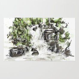 Abstract falls Rug