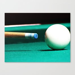 Pool Table-Green Canvas Print