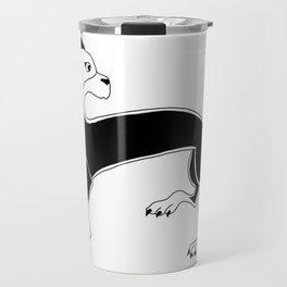 Book of Kells Dog2 Travel Mug