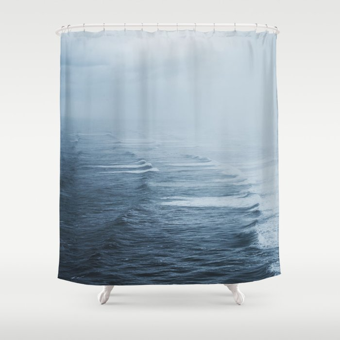Storms Over The Pacific Ocean Shower Curtain