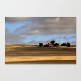 Rural Landscape and Farmhouse in Australia Canvas Print