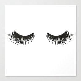Closed Eyelashes Canvas Print