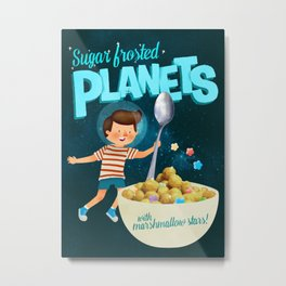 Sugar Frosted Planets Metal Print
