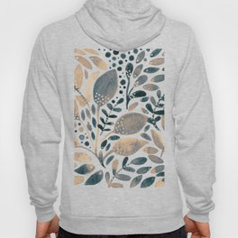 Watercolor branches and leaves - neutral Hoody