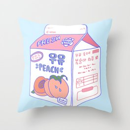 Peach Milk Throw Pillow