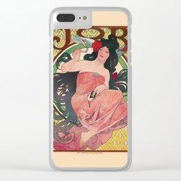 Alphonse Mucha Job Rolling Papers Art Nouveau Woman Clear iPhone Case